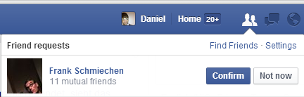 Frank Schmiechens Freundschaftsanfrage
